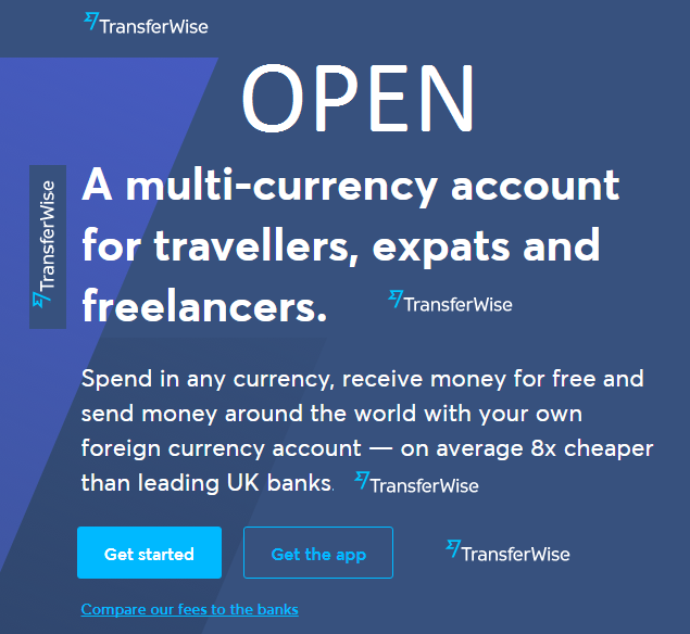 Open personal TransferWise account